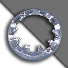 E14 ozdobný chromový kroužek malý 61mm