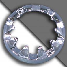 E14 ozdobný chromový kroužek velký 80mm