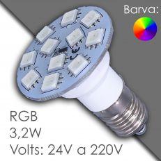 E14 RGB, AC 24V/220V - automatic