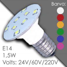 Led E14 - AC 24V, 60V, 220V, v gumě