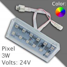 Led pixel 90mm DC 24V, programovatelný